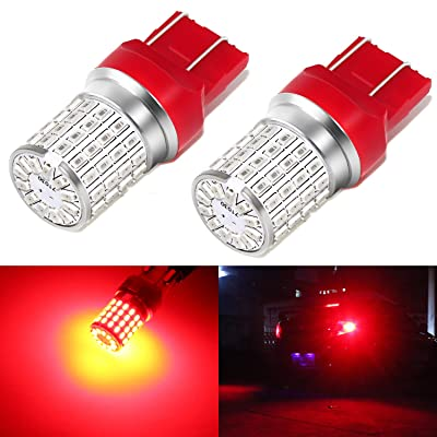 Phinlion 7443 LED Red Brake Light Bulb Super Bright 3014 72-SMD 7440 7444 T20 LED Bulbs for Stop Tail Brake Turn Signal Lights: Automotive