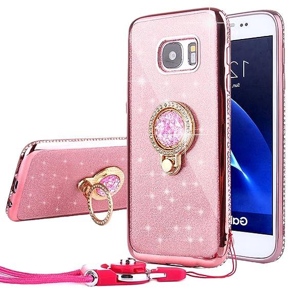 size 40 b28c4 1c861 Amazon.com: CaseHaven Galaxy S7 Edge Case, Bling Diamond Rhinestone ...