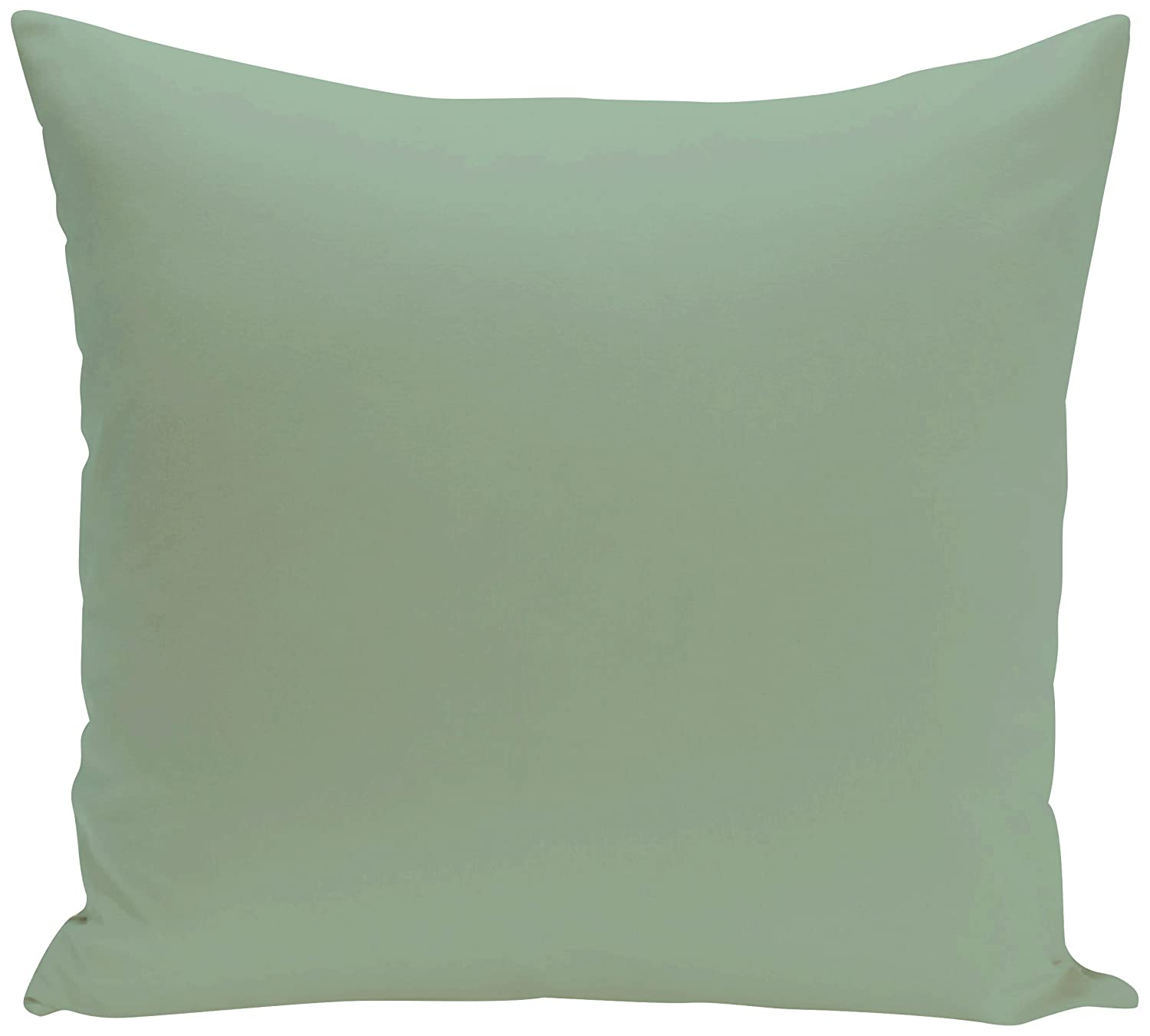 E by design PSOGR15-18 18 x 18-inch Solid Print Pillow Green 18x18,