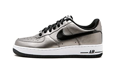 01a72cc38bc Image Unavailable. Image not available for. Color: Nike 315115-007 Womens AIR  Force 1 07 Metallic Pewter ...