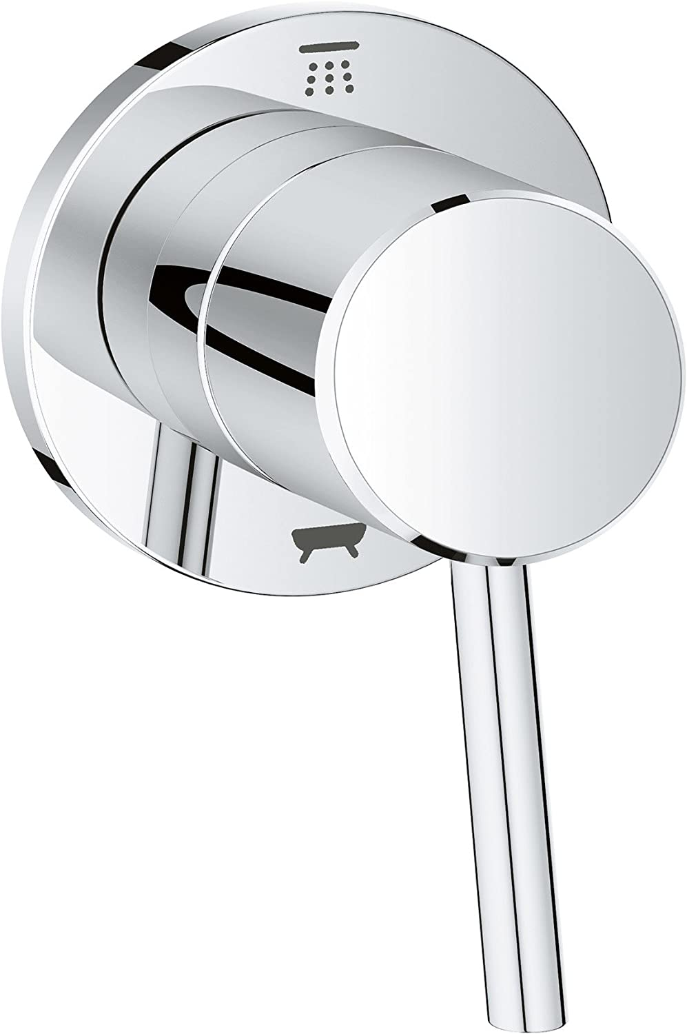 Grohe 29104001 Concetto 1-Handle Diverter Trim Kit bei Starlight Chrome (Valve Sold Separately)