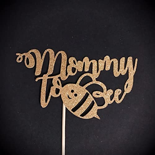 Mommy To Bee Cake Topper Baby Shower Mother Be