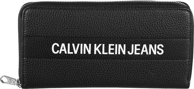 Calvin Klein Logo Banner Large Zip Around Black: Amazon.es ...