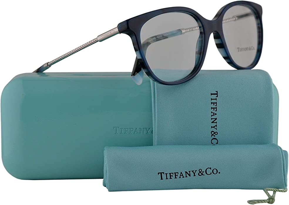 fab2d6423f5 Tiffany   Co. TF2168 Eyeglasses 54-17-140 Blue Lamps Blue w . Back. Double- tap to zoom