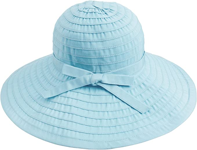Simplicity Womens UPF 50 Wide Brim Roll-up Straw Sun Hat Sun Visor