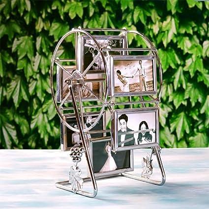 weiwei Portaretrato giratorio de metal, Marco de fotos de noria de molino creativo Marco de