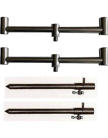 2 x NGT p/êche /à la carpe grand 50-90cm Acier Inoxydable Extensible piquets CROSSES