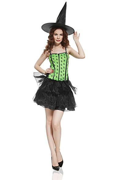 Adult Women Pretty Witch Halloween Costume Hot Enchantress Dress Up u0026 Role Play (Standard+)  sc 1 st  Amazon.com & Amazon.com: Adult Women Pretty Witch Halloween Costume Hot ...