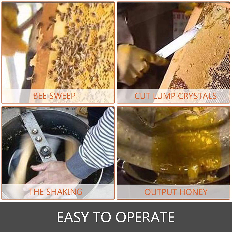2 Frame Bee Honey Extractor Stainless Steel Honeycomb Spinner Crank Beekeeping Equipment