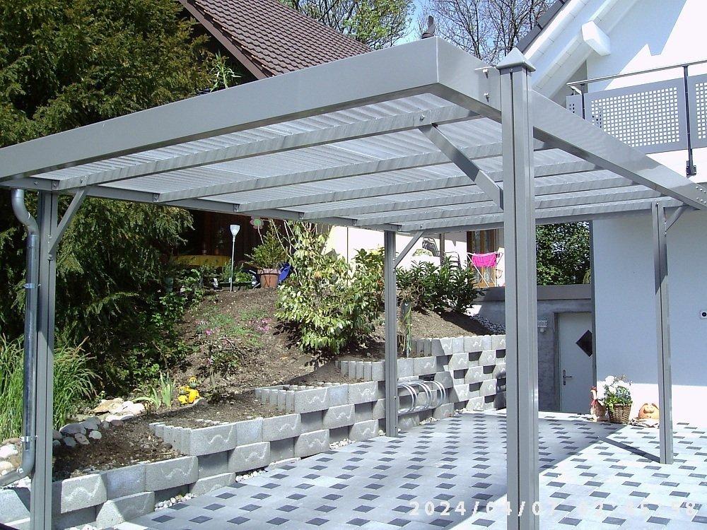 aktion aluminium carport luxor ral 9016 wei komplettbausatz inkl polycarbonat dacheindeckung und pyramidenkappen 5100mm x 3070mm x 2135mm amazonde