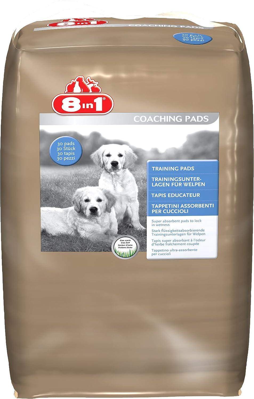 8 in 1 102281 Lot de 30 tapis éducateur pou chien parfum herbe fraîche 8in1 CA0053