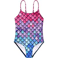 Durio Girls One Piece Swimsuits Quick Dry Little Girls Swimsuits UPF 50+ Toddler Bathing Suits for Girls