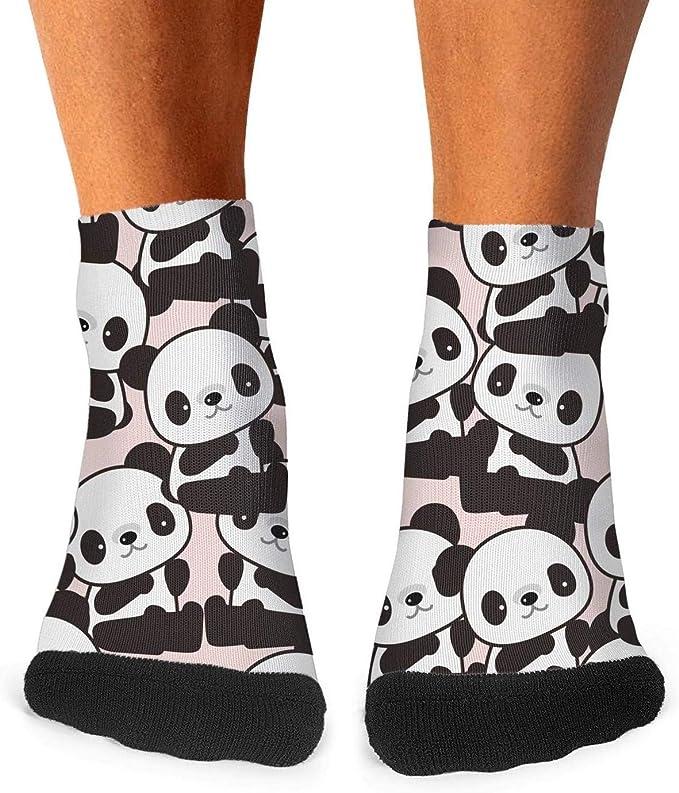 Mens athletic low cut Ankle sock Panda Hand By Hand Comfort Short Socks