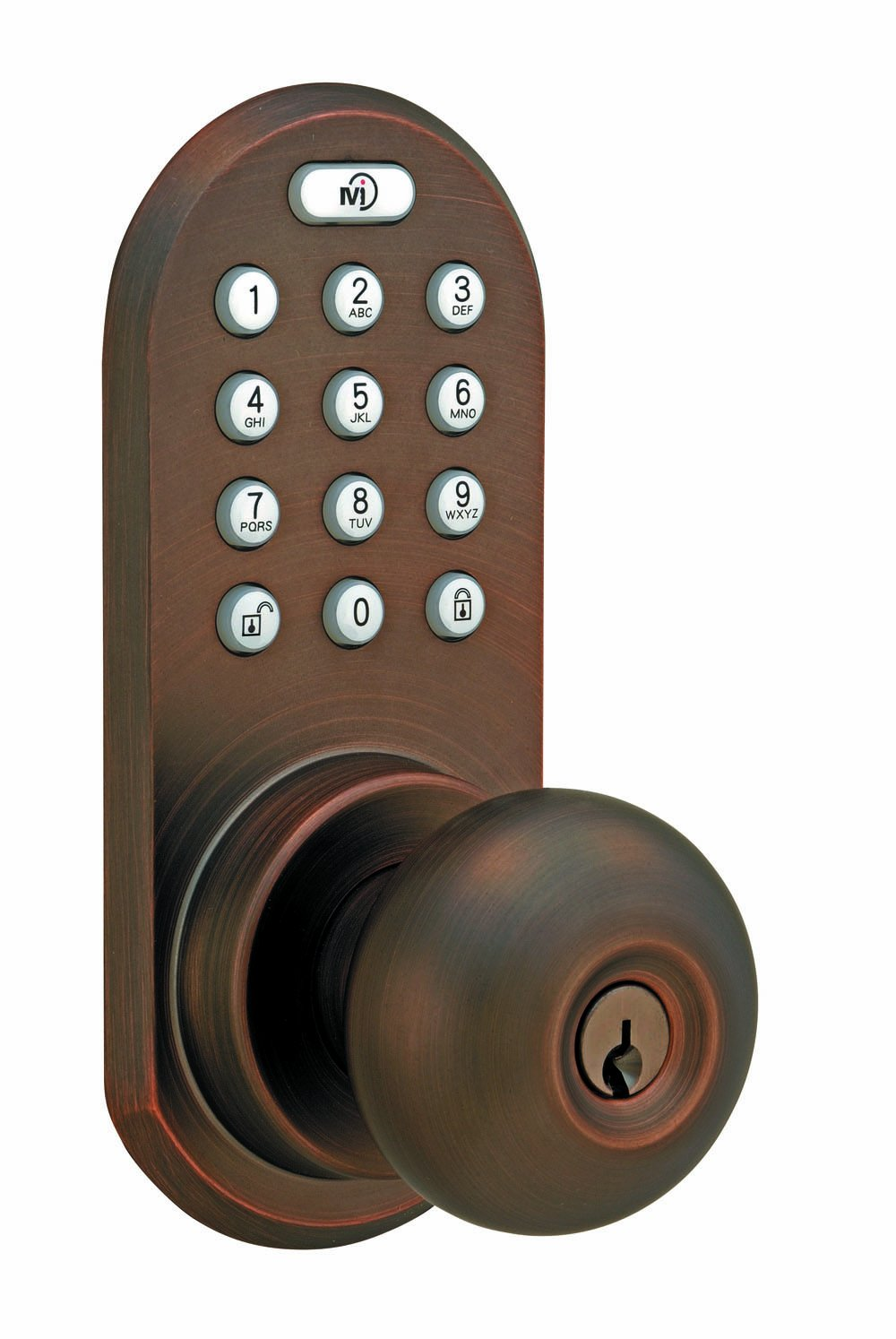 MORNING INDUSTRY INC QKK-01OB 3-In-1 Remote Control & Touchpad Doorknob, Oil Rubbed Bronze