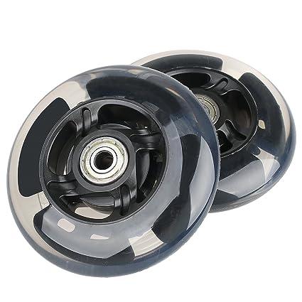 Kutrick - Ruedas de Repuesto para Scooter con luz LED (100 mm, con rodamiento