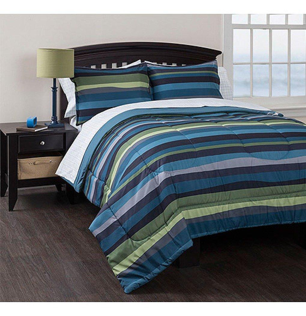 Amazon Com Bed In A Bag American Original Blue Pacific Stripe