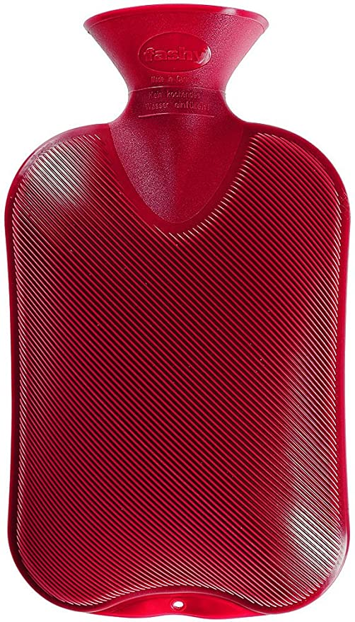 Fashy 2 L Cranberry Single Ribbed Hot Water Bottle