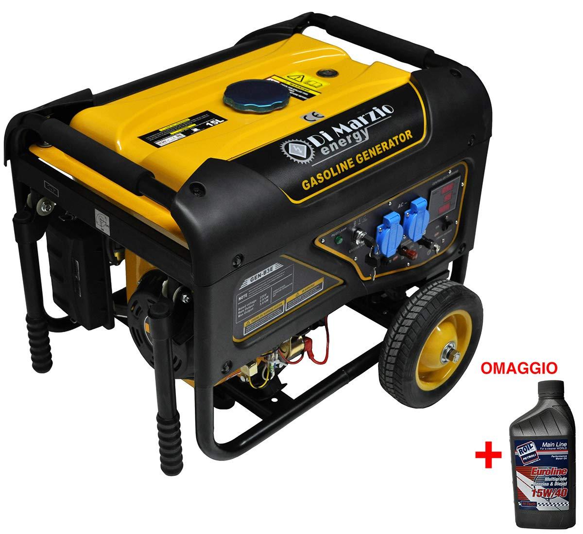 Di Marzio Energy Generador eléctrico 3 KW - Gasolina - Grupo ...