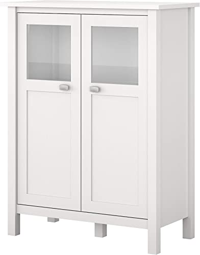Bush Furniture BDS132WH-03 Bar Cabinet with Wine Storage, Pure White