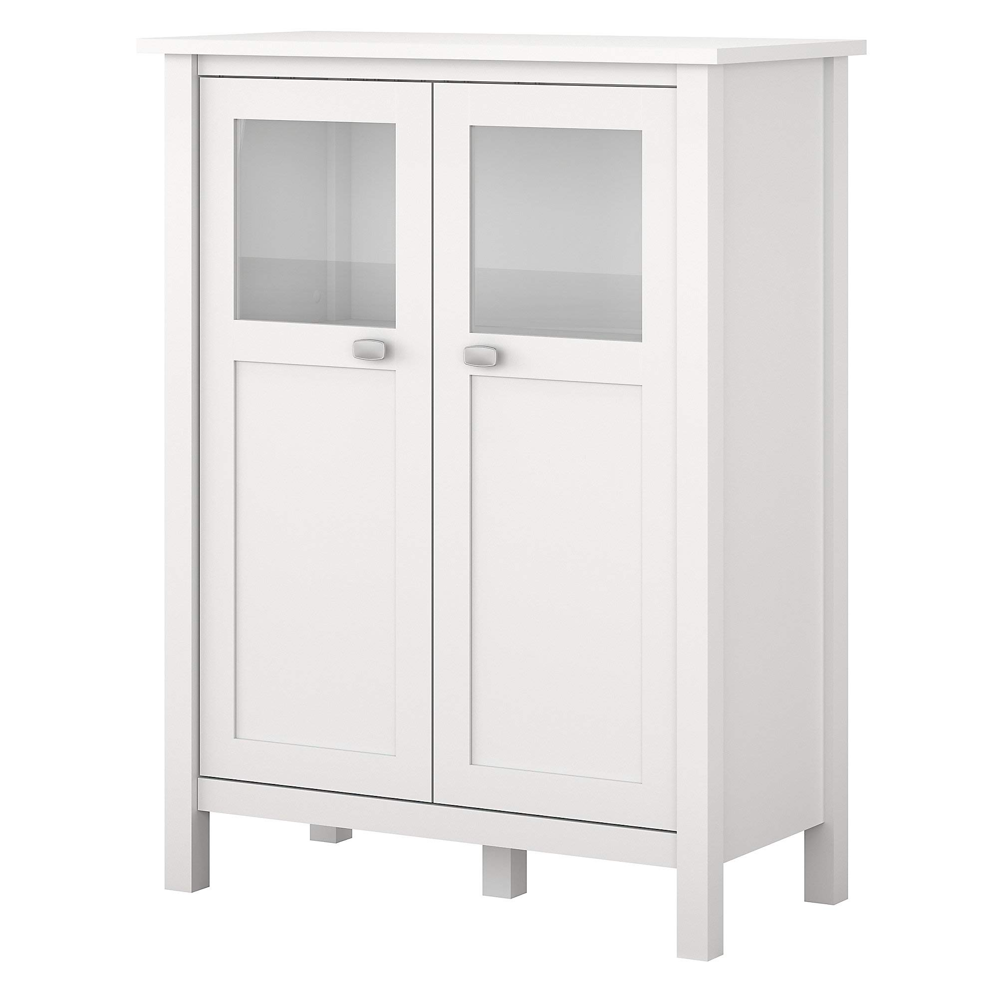 Bush Furniture BDS132WH-03 Storage Cabinet with Doors, Pure White by Bush Furniture