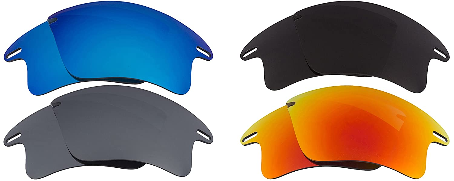 3c0160e66de Fast Jacket XL Replacement Lenses Polarized Black Red Silver Blue by SEEK  at Amazon Men s Clothing store