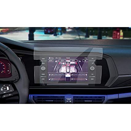 LFOTPP Car Navigation Screen Protector for 2019 Jetta GLI 8-Inch,Clear Tempered Glass Infotainment Display in-Dash Center Touch Screen Protector 8-Inch