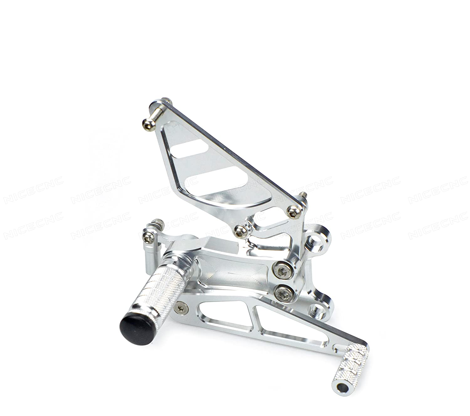 NICECNC Gold Motorcycle Racing Fully Adjustable Rearset Footrests Foot Pegs Rear Set Replace CBR929RR 2000-2003 CBR954RR 2002-2003