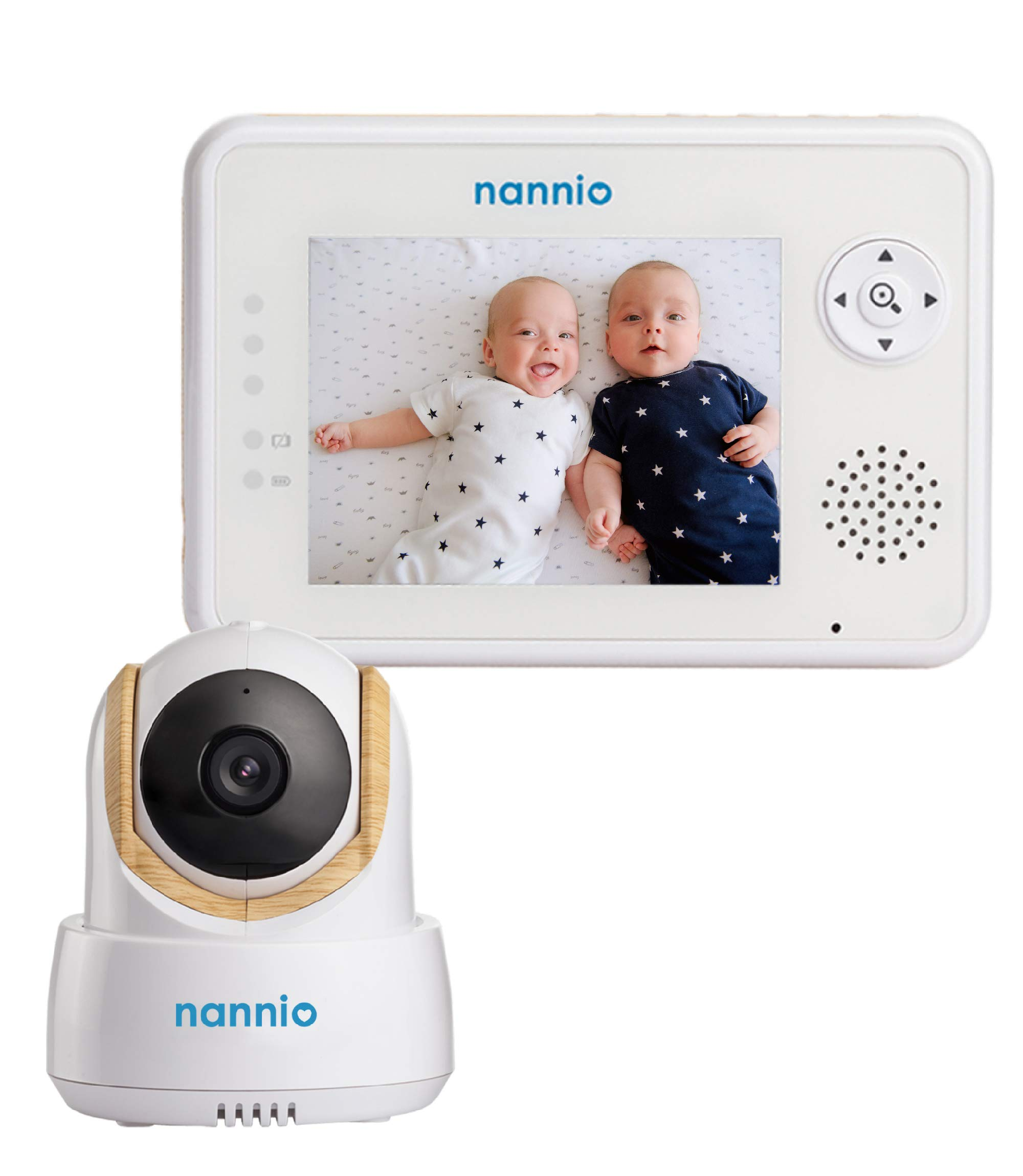 Nannio Comfy Ace Baby Monitor with Remote Pan-Tilt-Zoom Camera and 3.5inch LCD Screen, Infrared Night Vision, VOX, Alarm System, Two Way Talk, Lullaby, Baby Room Temperature