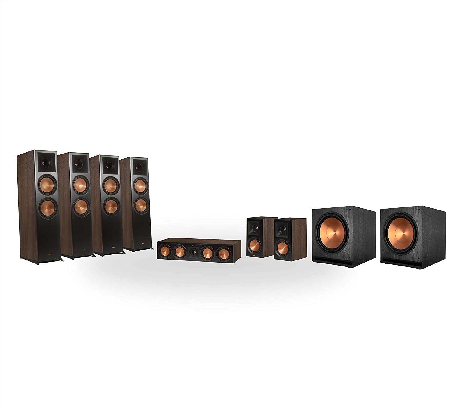 Klipsch RP-8060FA 7.2.4 Dolby Atmos Home Theater System - Walnut