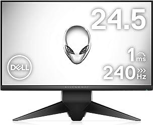 Dell ゲーミングディスプレイ モニター ALIENWARE AW2518H 24.5インチ/FHD,TN/240Hz,1ms G-Sync/DP,HDMI/USBハブ/3年間保証