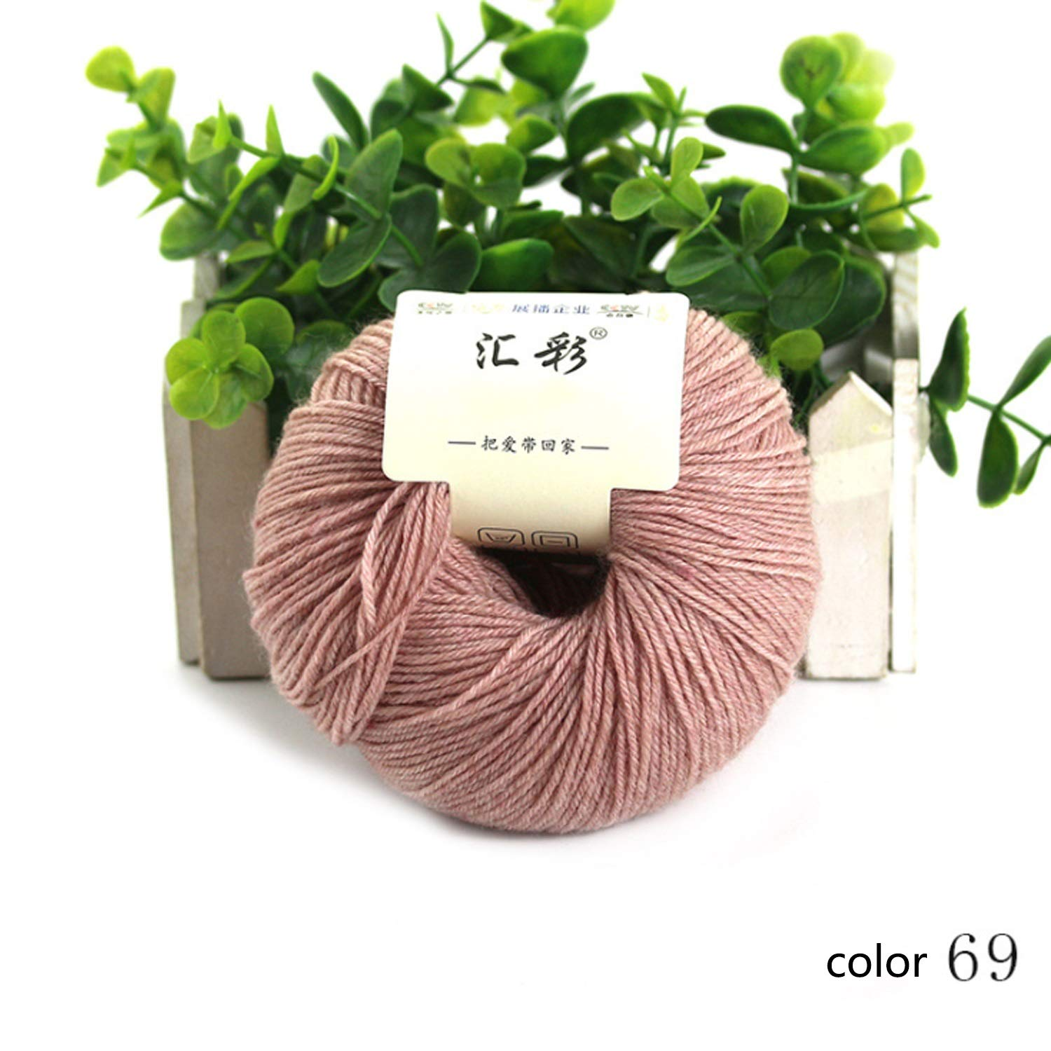 Col 69 1 ball Shuo lan hu wai Yarn knitting yarn wool yarn autumn winter hand series scarf line soft baby sweater line 1 ball about 50 g 4 15 NM 15 colors available (color   Col 89, UnitCount   10 balls)