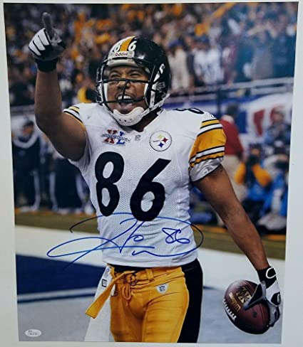 19490d4157b Image Unavailable. Image not available for. Color  Pittsburgh Steelers  Hines Ward Signed Autograph ...