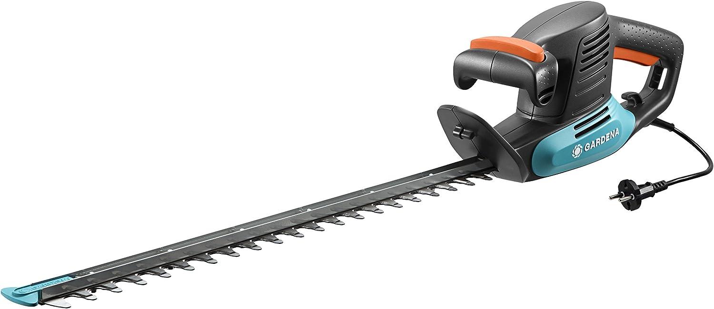 Tijeras cortasetos eléctricas EasyCut 500/55 de GARDENA: tijeras eléctricas para setos, 500 W, cuchilla de 55 cm de longitud, separación entre dientes de 18mm, protector contra impactos (9832-20)