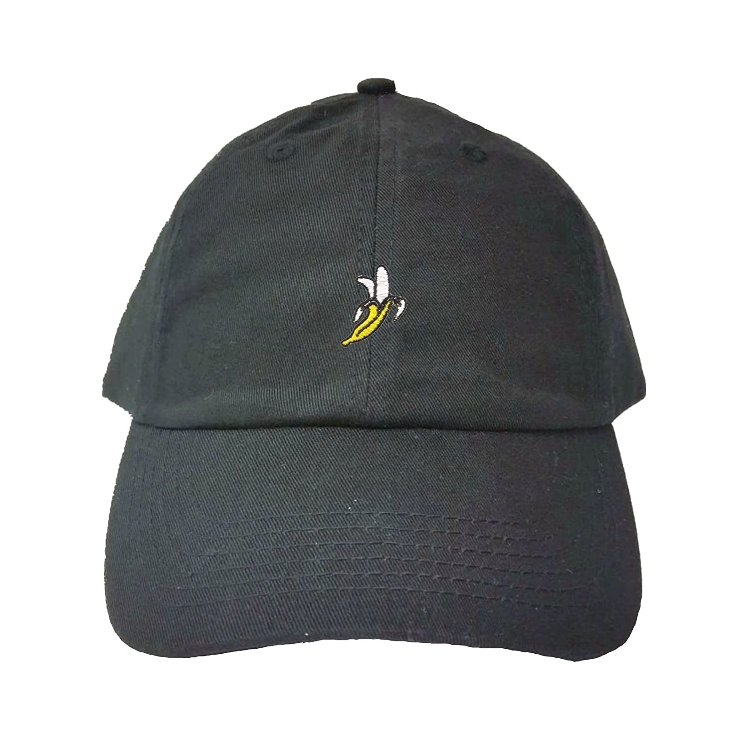 cb720807 Amazon.com: Go All Out Adjustable Black Adult Banana Embroidered Dad Hat:  Clothing