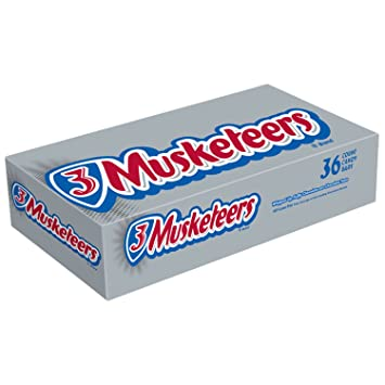 Amazon.com : 3 MUSKETEERS Chocolate Singles Size Candy Bars 1.92 ...