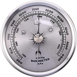JVSISM for Home Pressure Gauge Weather Station Metal Wall Hanging Barometer Atmospheric Multifunction Thermometer Hygrometer Portable