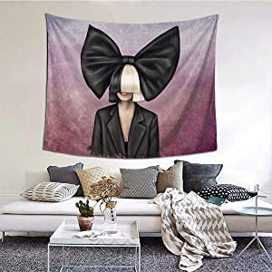 NOT Sia Furler2 Fashion Tapestries Wall Home Art Decoration Living Room Bedroom Home Decor 60x51 Inch
