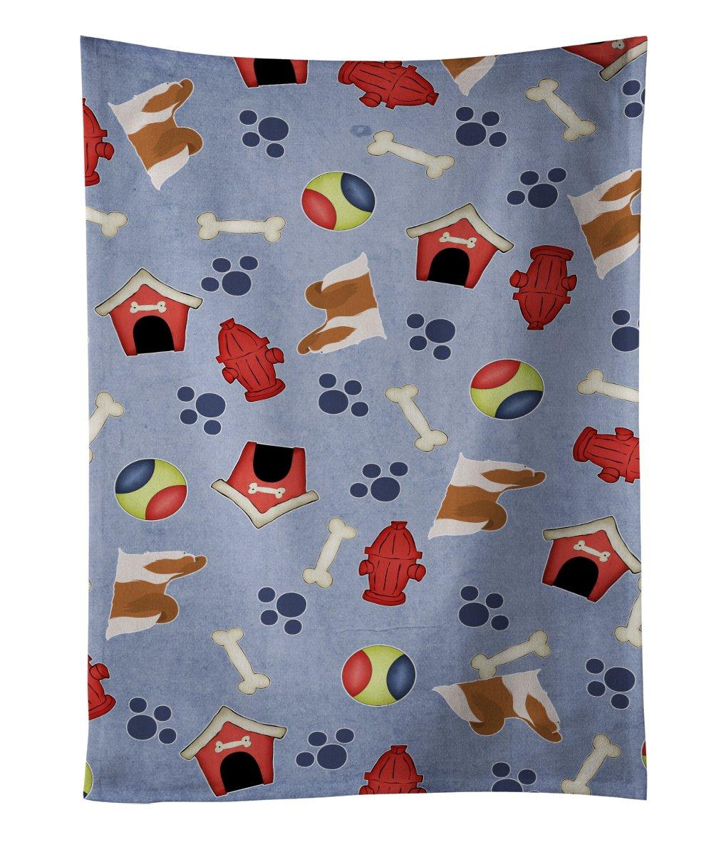 25 x 15 Multicolor Carolines Treasures BB3936KTWL Maltese Dog House Collection Kitchen Towel