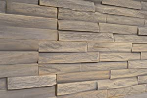 WoodyWalls 3D Wall Panels   Wood Planks are Made from 100% Teak   Each Wood Panel is Handmade and Unique   Premium Set of 10 3D Wall Decor Panels   DIY Wood Panels (9.5 sq.ft. per Box) Monterey