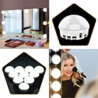 Mirror Lights Kit,Addprime Vanity 12 Light Bulbs Hollywood Style,7000K Dimmable Daylight White,17FT/5.2M Hidden Retractable Length LED Mirror Light for Makeup Dressing Room