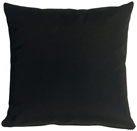 Pillow Decor   Sunbrella Black Outdoor Pillow