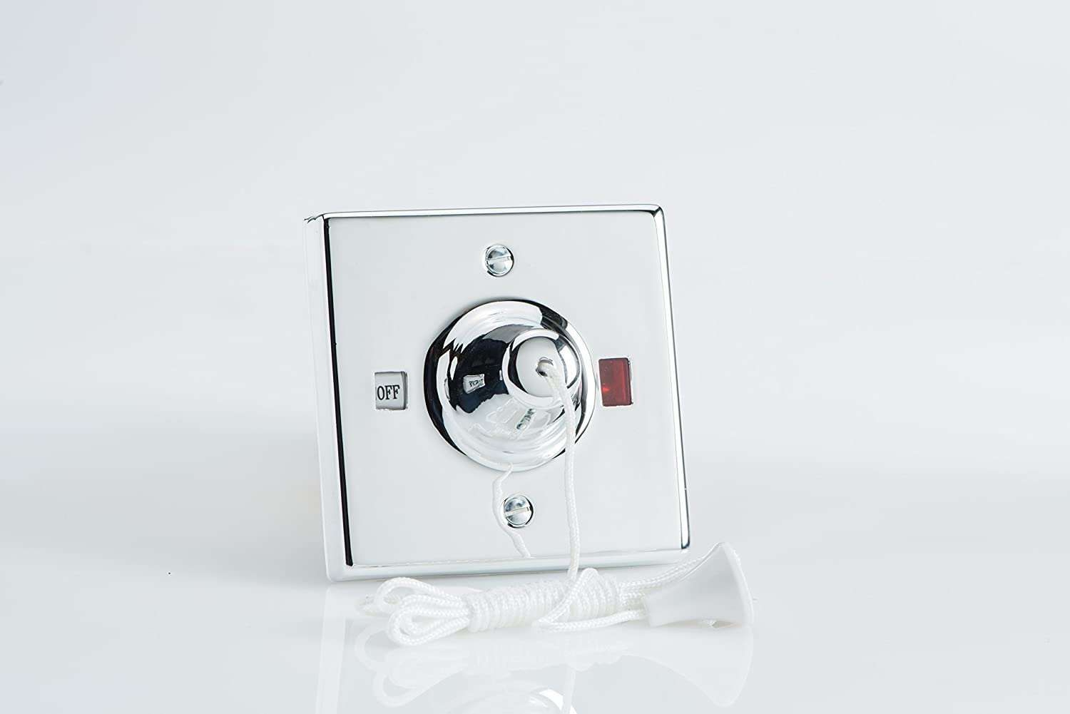 Varilight - 45 Amp Pull Cord Chrome Effect Finish - YPSC45  sc 1 st  Amazon UK : quiet bathroom light pull switch - azcodes.com