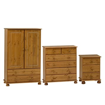 richmond pine nursery bedroom furniture set wardrobe chest of