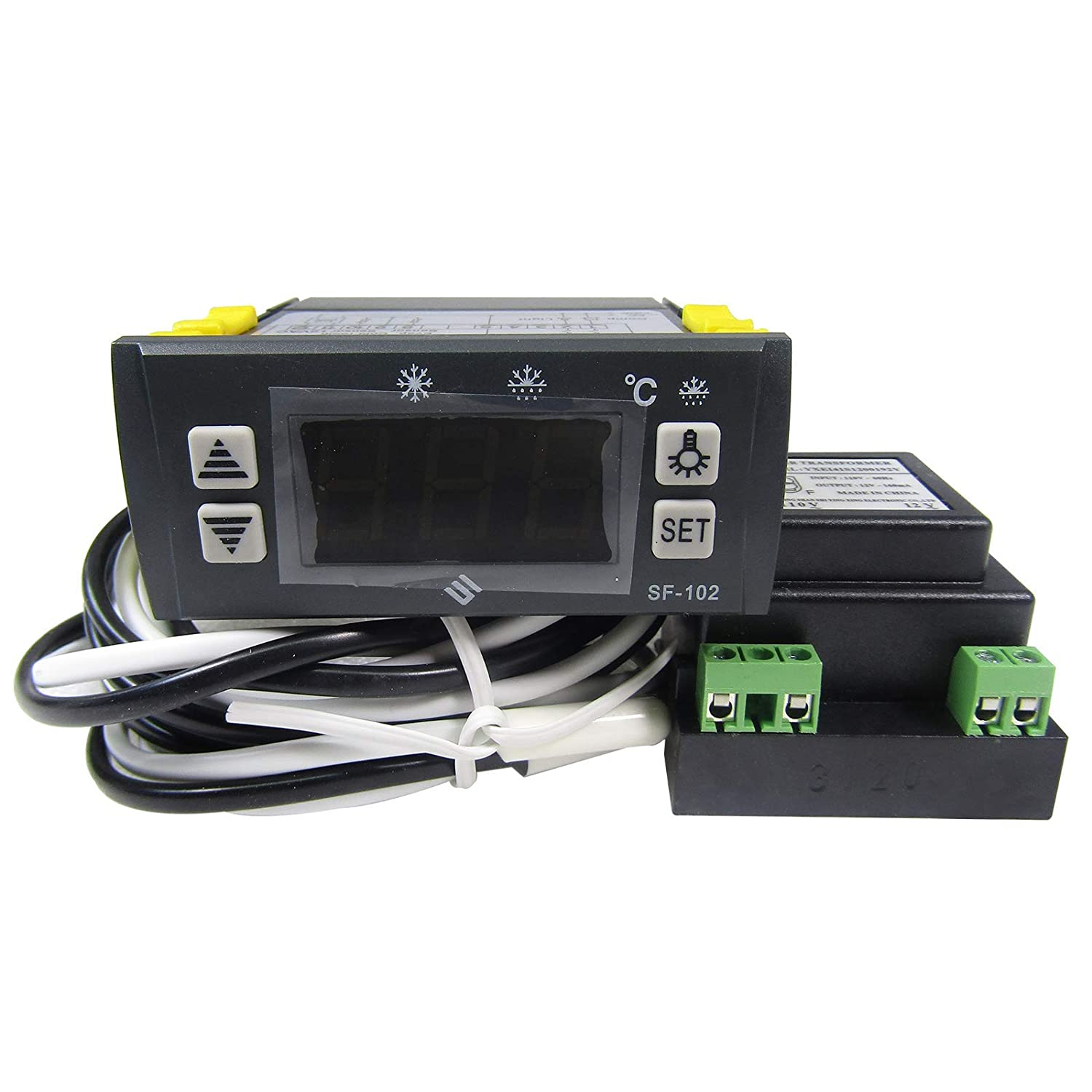 90~250V Digital Temperature Controller Sensor Thermostat 10A 50~110℃ w//Sensor