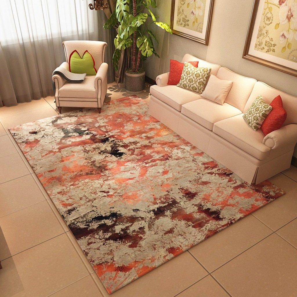 長方形のカーペット、aquarelleパターン、ベッドルームのリビングルームのコーヒーテーブルソファ、家庭用長方形のカーペット(120センチ* 160センチメートル)   B07B4RC3CX