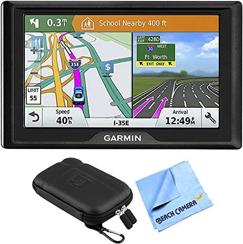 Garmin Drive 51 LM GPS Navigator with Driver Alerts USA 010-01678-0B with 5 inch Universal GPS Navigation Protect and Stow Case 1 Piece Micro Fiber Cloth