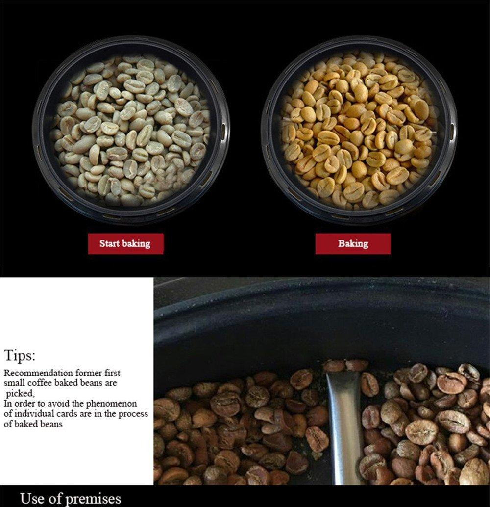 Vogvigo Tostador de Granos de café Beans Tostadora de café para hogar 220V,Mini Tostadora rotativa de Acero Inoxidable,Tostadora para moler Especias: ...