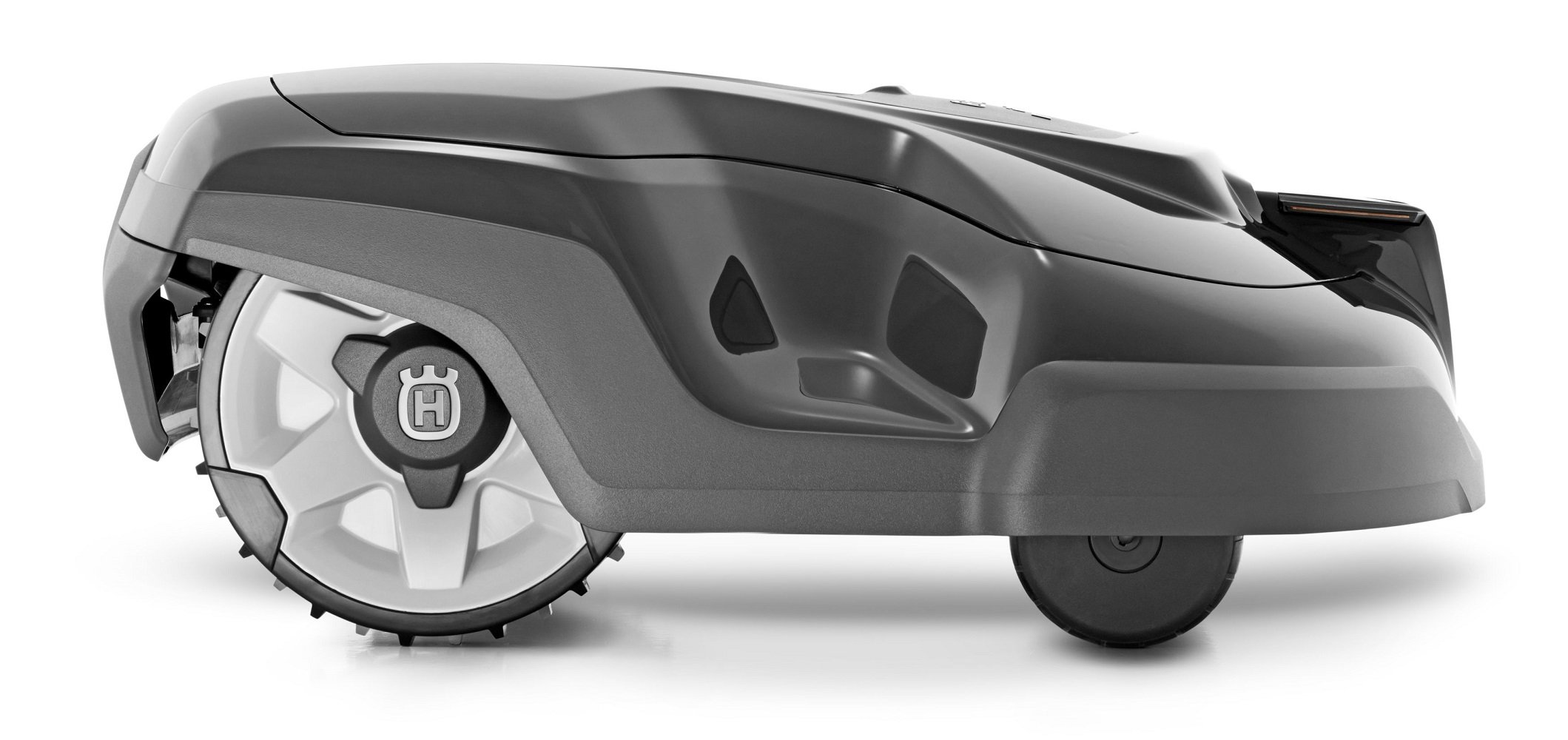 Husqvarna automower 310, robotic lawn mower 3 smart home meets smart lawn - manage your lawn with the touch of a button and maintain a yard your neighbor's will envy; the connect@home app allows you to set and adjust your automower's cutting schedule with ease (bluetooth connectivity works up to 100 ft) guided by hidden boundary wires, automower knows how to smartly maneuver around your yard and when to return to the charging station for a battery recharge quiet enough to run at night, you'll never have to worry about disturbing your neighbors again with noise or fumes