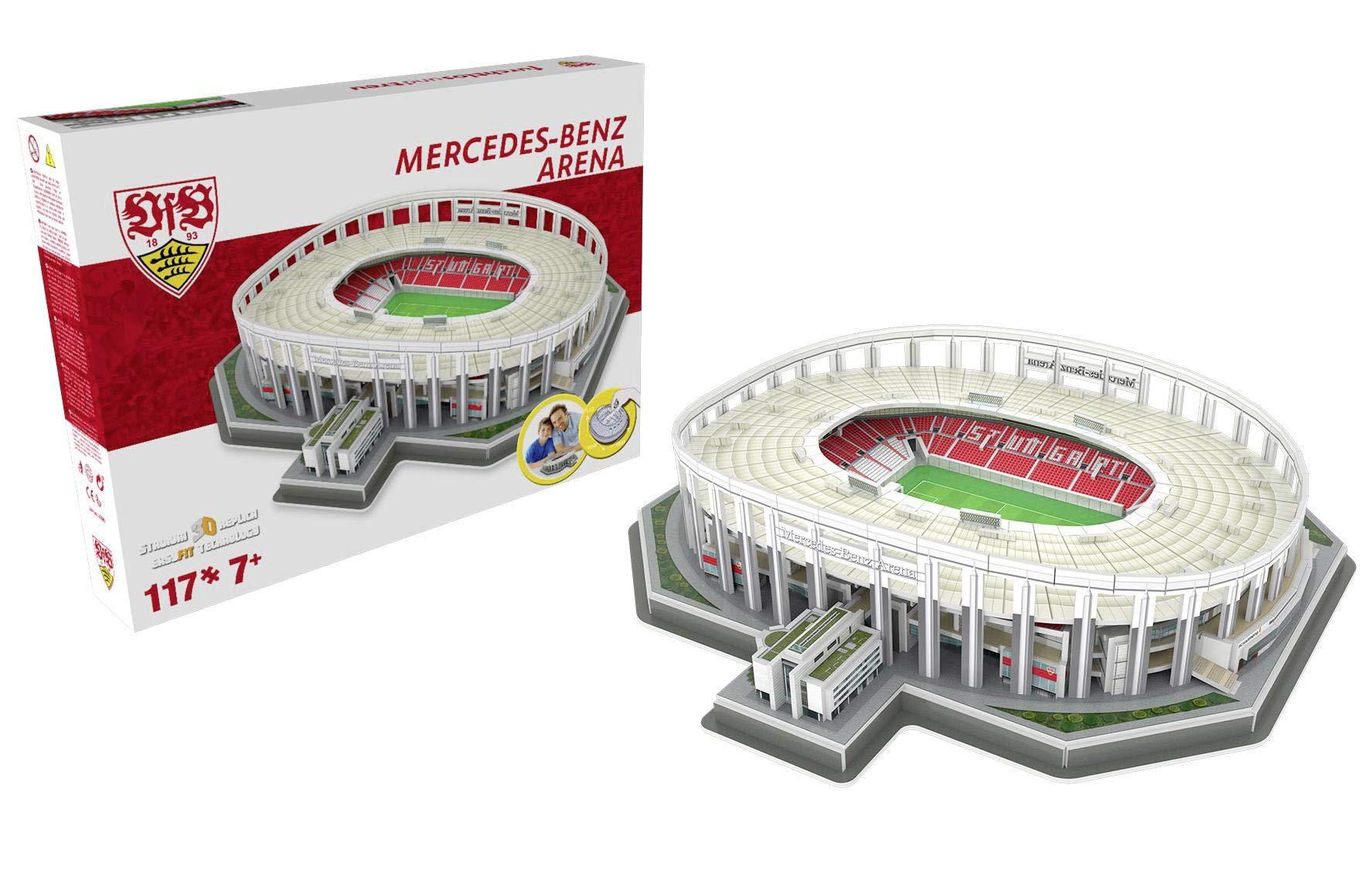Nanostad Mercedes Benz Arena 3D Puzzle VFB Stuttgart 117 Pieces Plastic & Cardboard Gift Boxed