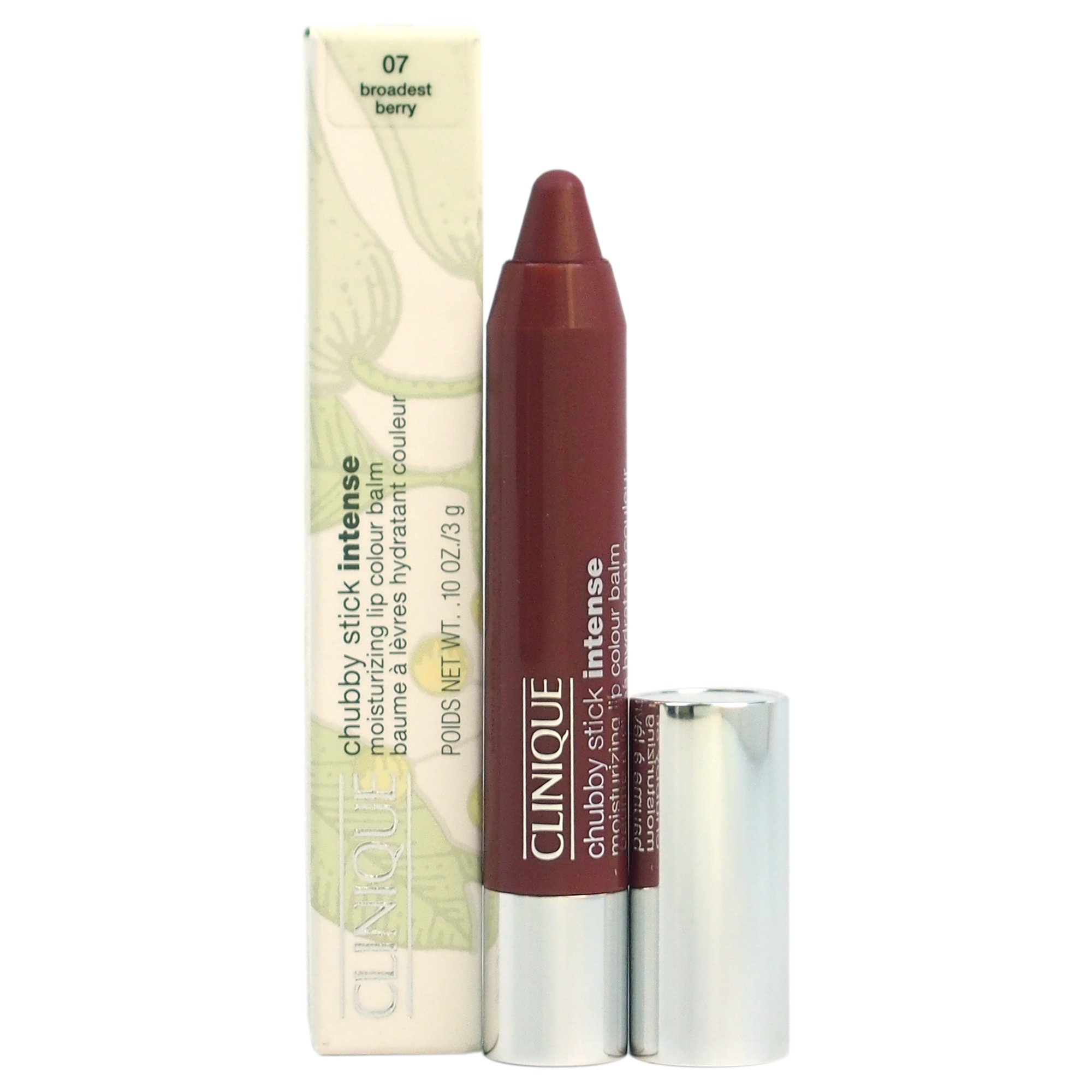 Clinique Chubby Stick Intense Moisturizing Lip Color Balm, No. 07 Broadest Berry, 0.1 Ounce by Clinique